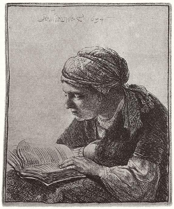 Рембрандт Ван Рейн. Читающая девушка