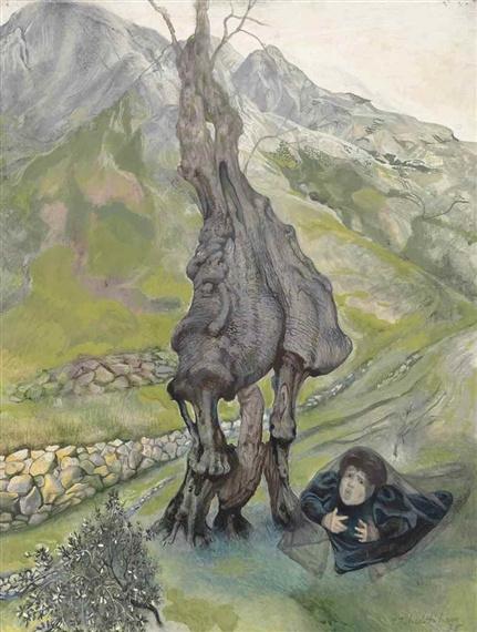 Павел Федорович Челищев. Оливковое дерево