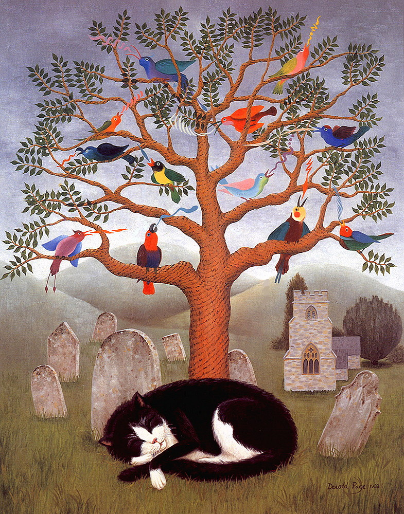 DeRold Page. Church. Cat. Sleep