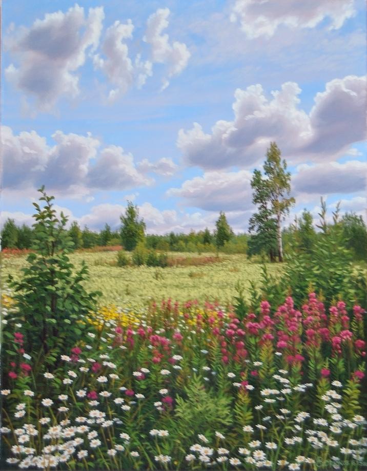 Alexander Vasilyevich Zoryukov. July blooming