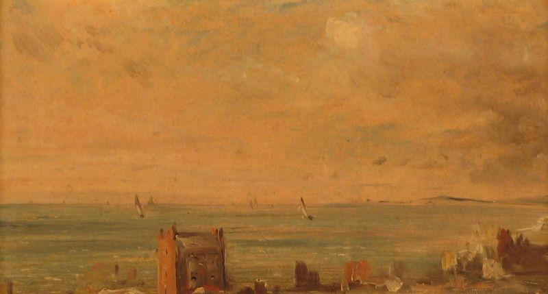 John Constable. Landscape, Weymouth Bay