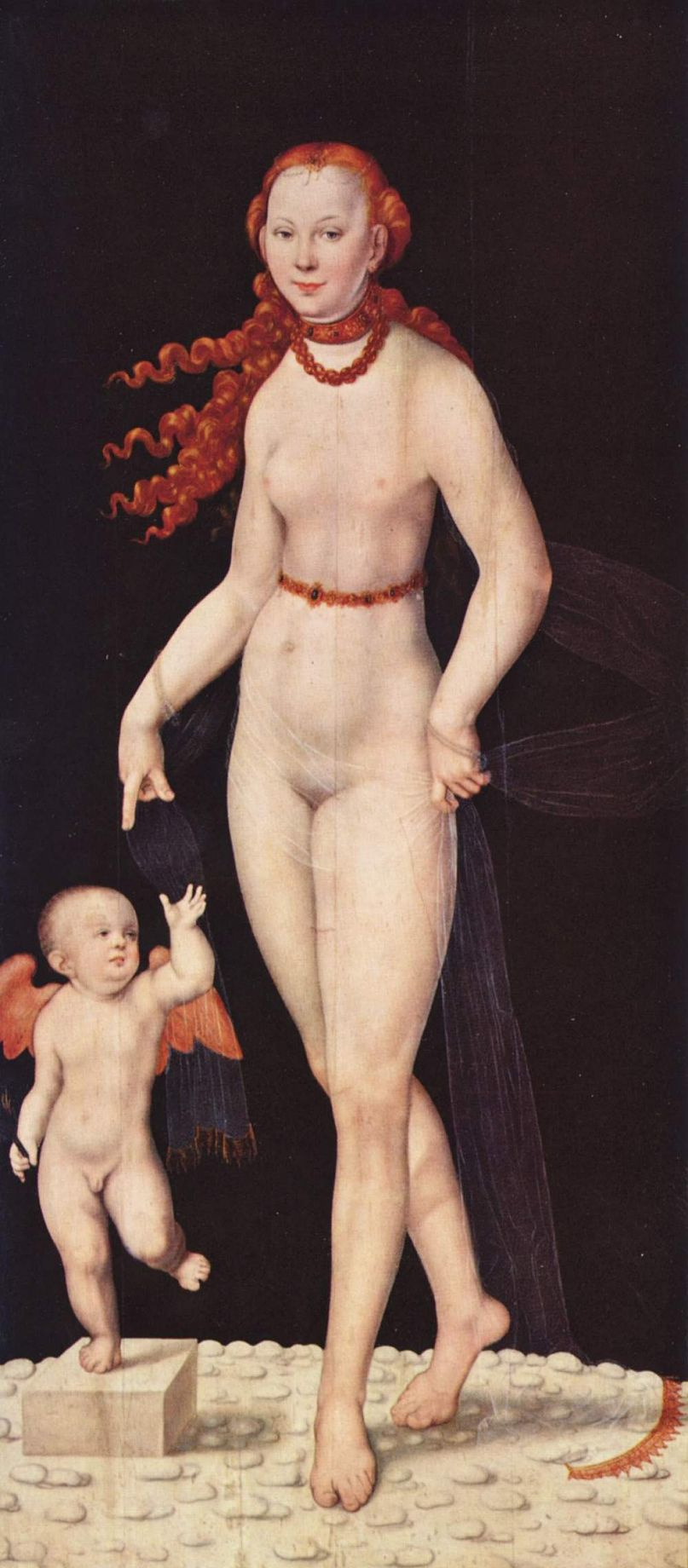 Lucas the Younger Cranach. Venus with Cupid