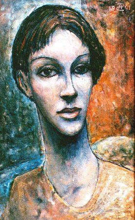 Александр Чулков. Женский портрет - 1991