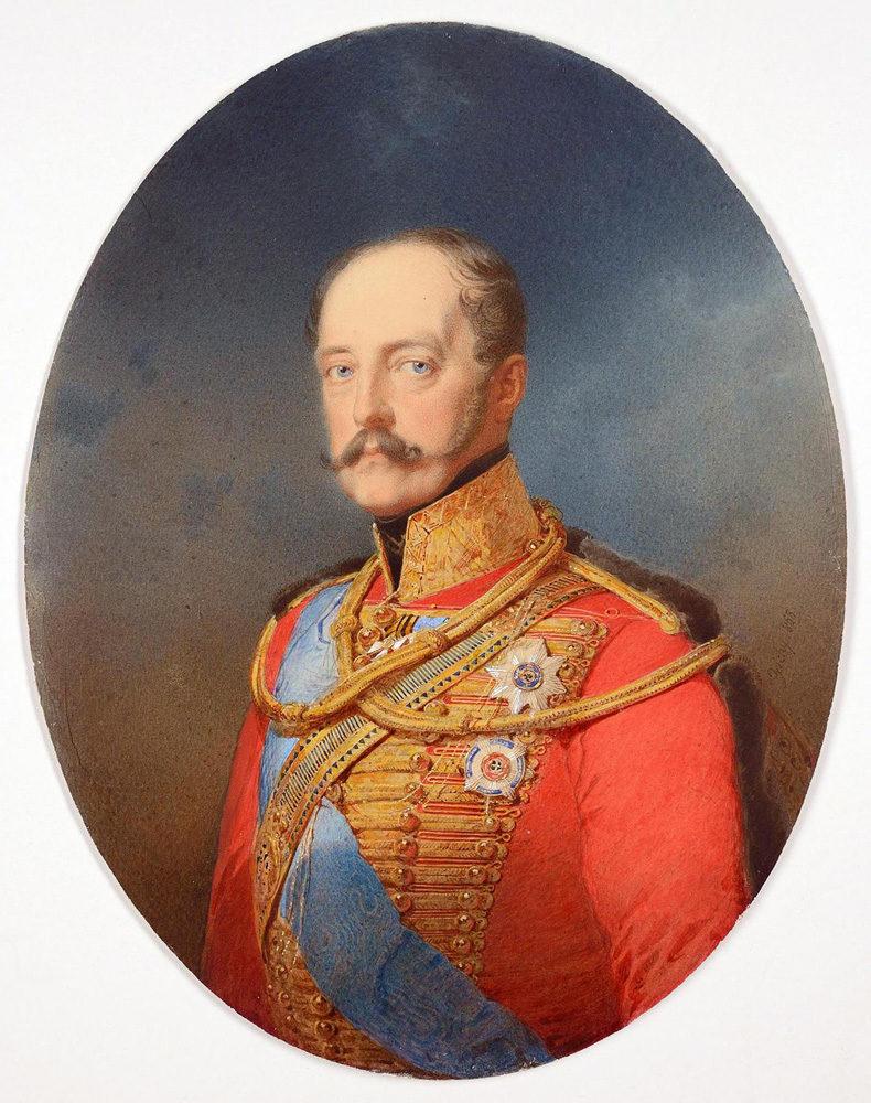 Mikhail Alexandrovich Zichy. Portrait of Emperor Nicholas I. State Hermitage Museum, St. Petersburg.