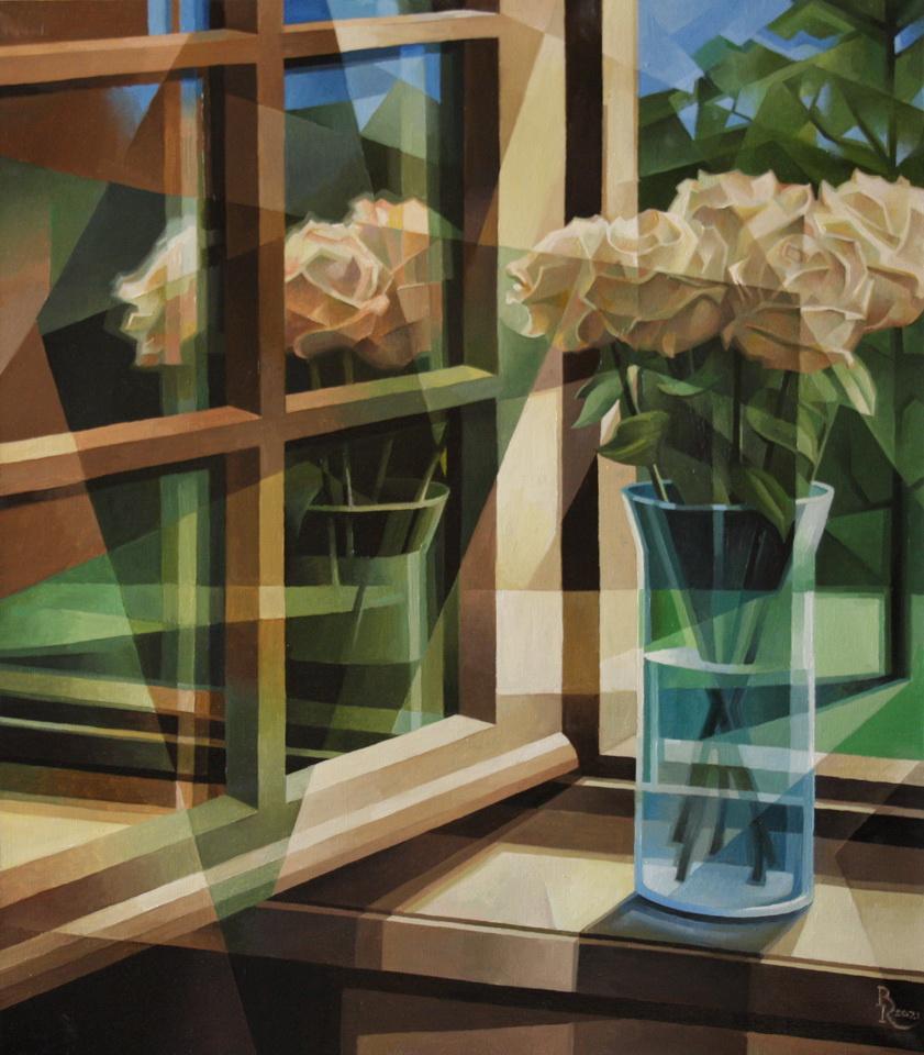 Vasily Krotkov. Чайные розы. Пост-кубофутуризм