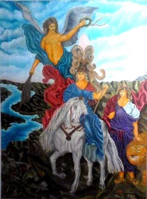 Victor Vladimirovich Weaver. Horsemen