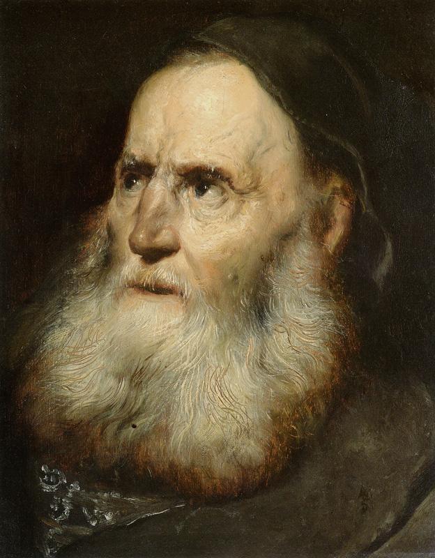 Ян Ливенс. Портрет пожилого бородатого мужчины