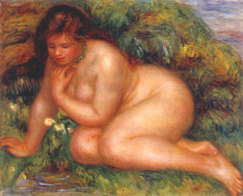 Pierre-Auguste Renoir. Bather, admiring themselves in the water
