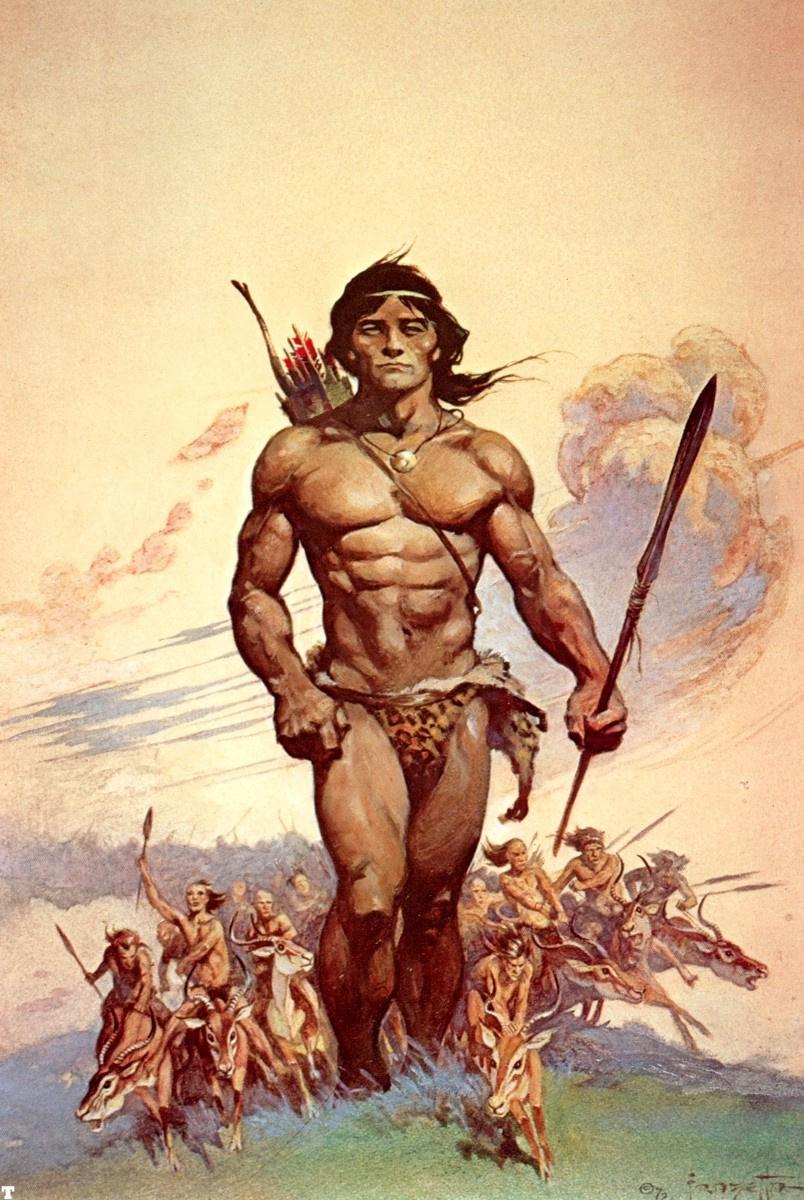 Frank Frazetta. Tarzan and the men ant