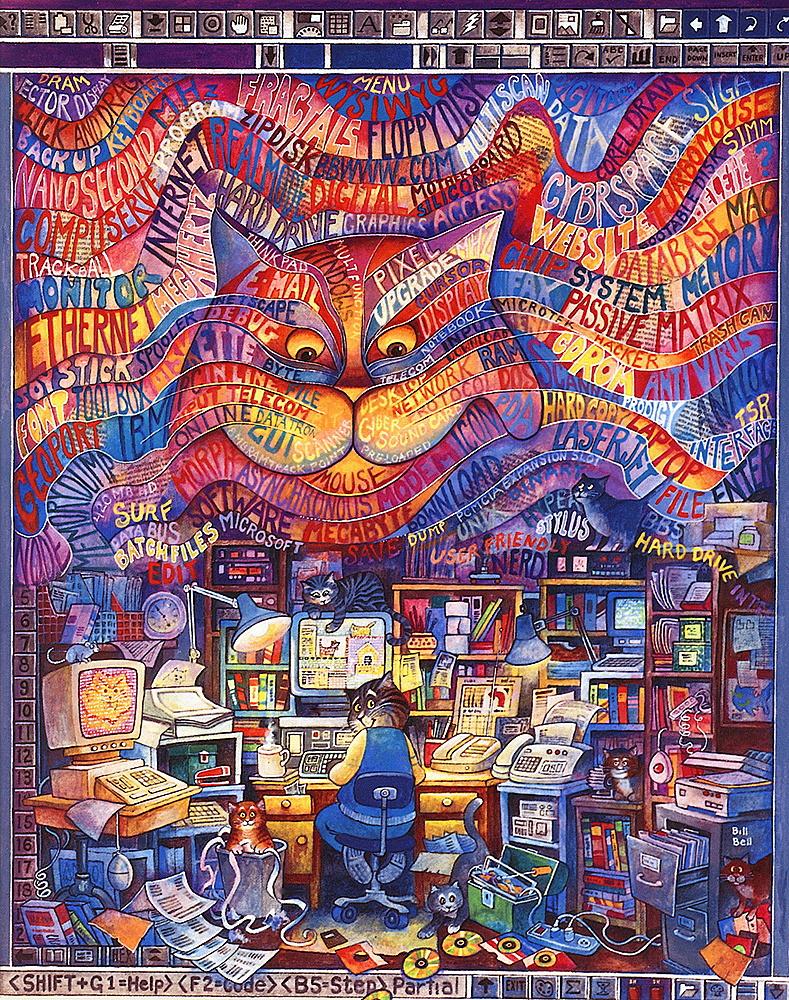 Bill Bell. Cyber cat
