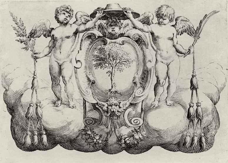 Франческо Бризио. Щит с гербом кардинала Антонио Факенетти