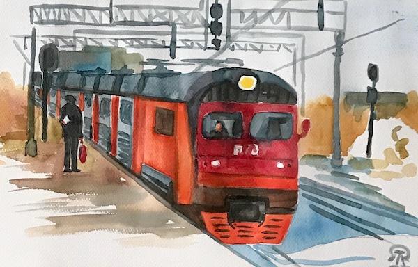 Larissa Lukaneva. Train