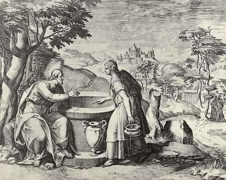 Агостино Карраччи. Христос и самаритянка
