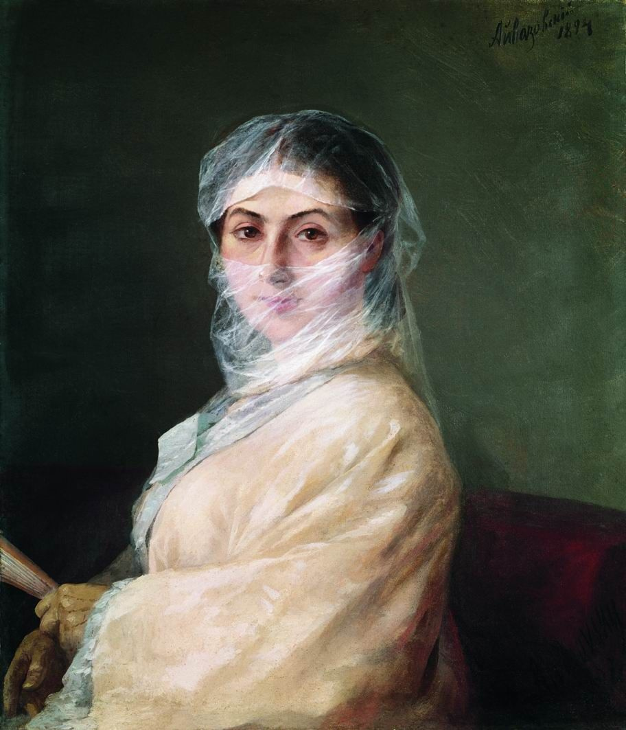 Ivan Aivazovsky. Anna Burnazyan-Sarkizova, the second wife of Ivan Aivazovsky