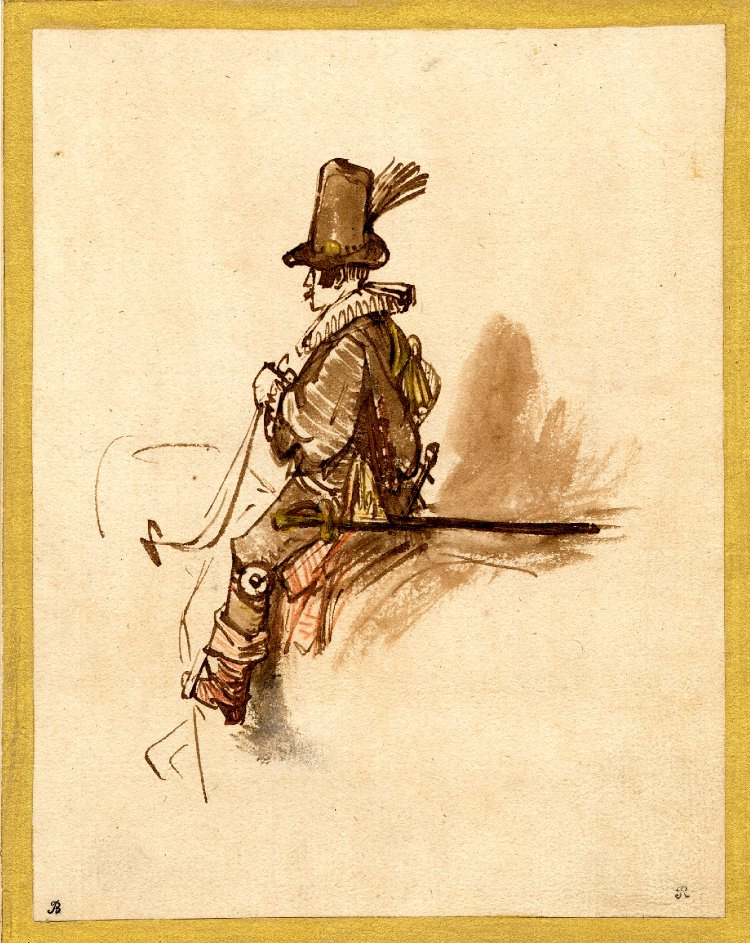 Rembrandt Harmenszoon van Rijn. A mounted officer