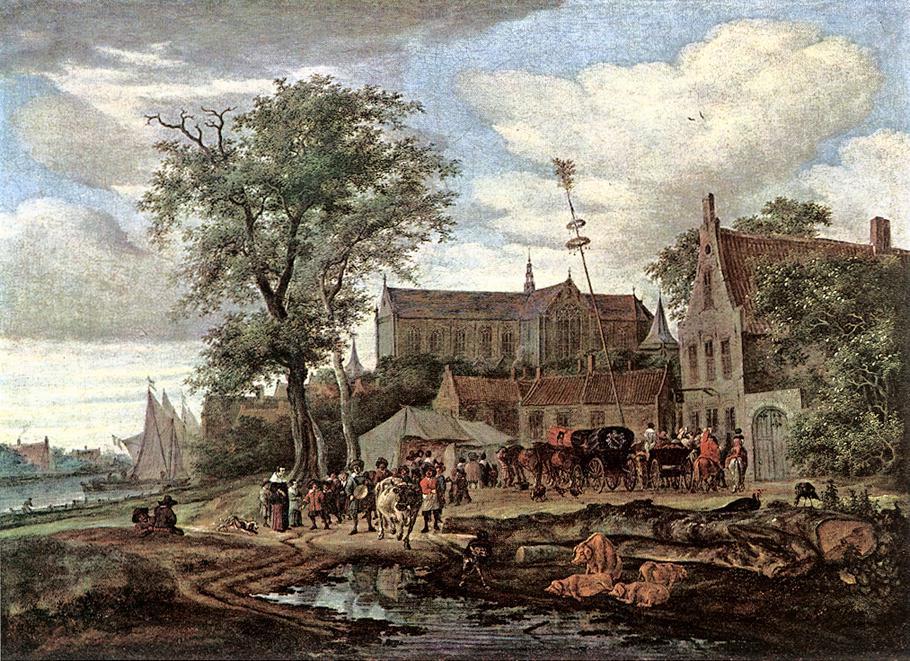 Саломон ван Рёйсдал. Таверна с майским деревом