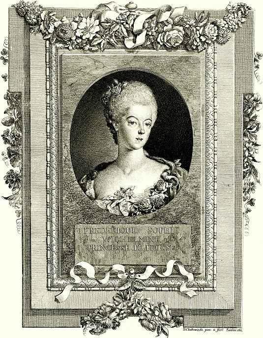 Даниэль  Николай Ходовецкий. Принцесса Фридерика София Вильгельмина Прусская