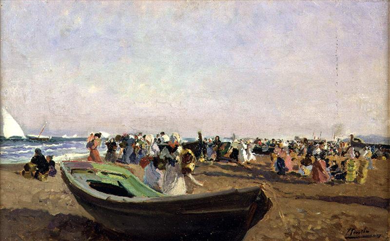 Хоакин Соролья (Соройя). Пляж Валенсии, рыбачки