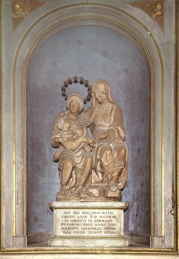 Андреа Сансовино. Мадонна с младенцем и Святая Анна