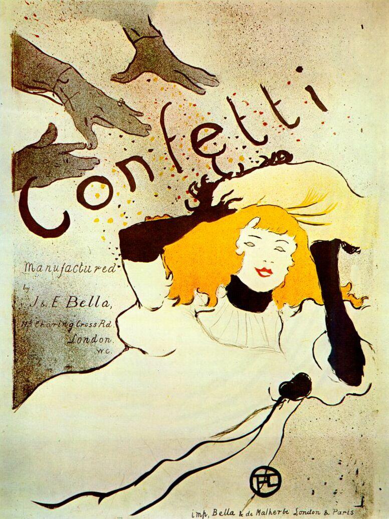 Henri de Toulouse-Lautrec. Confetti poster