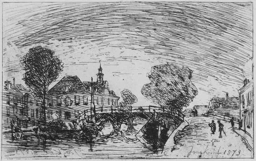 Ян Бартолд Йонгкинд. Мост через канал