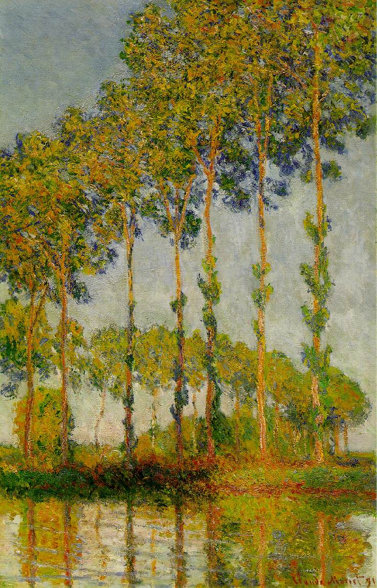 Claude Monet. Poplar, autumn