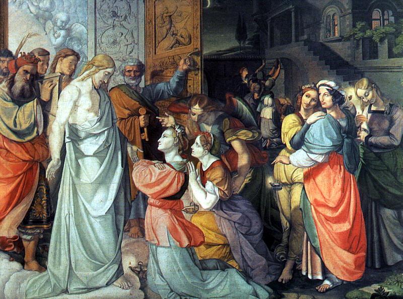 Петер фон Корнелиус. Поклонение Спасителю