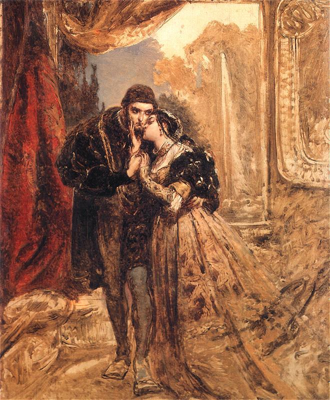 Ян Матейко. Зигмунт Август и Барбара в доме Радзивиллов в Вильнюсе. Эскиз