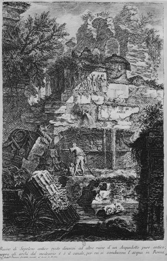 Джованни Баттиста Пиранези. Руины античной гробницы