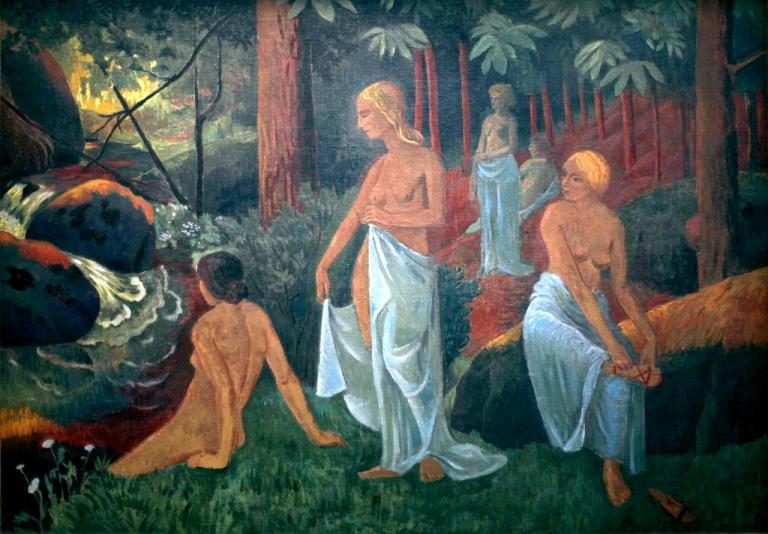 Paul Sérusier. Bathers with white veils