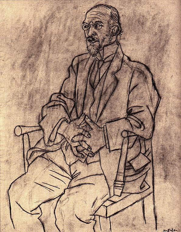 Пабло Пикассо. Портрет Эрика Сати