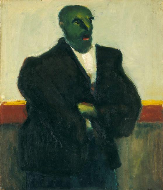 Марк Ротко. Без названия (Мужчина с зеленым лицом)
