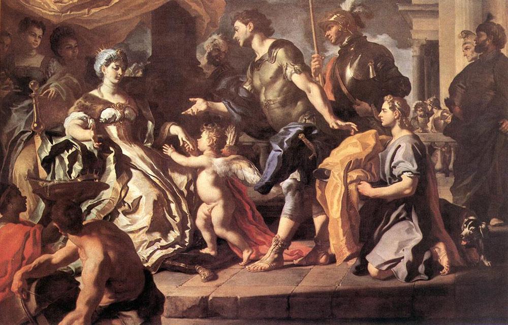 Франческо Солимена. Прием Энея и Амур, замаскированный под Аскания