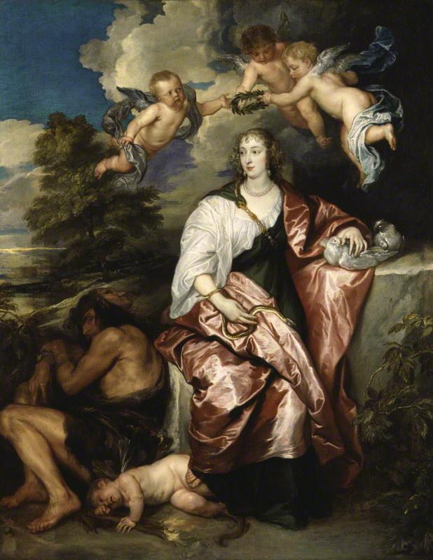 Anthony van Dyck. Portrait of a lady Digby Venice, symbolizing Prudence
