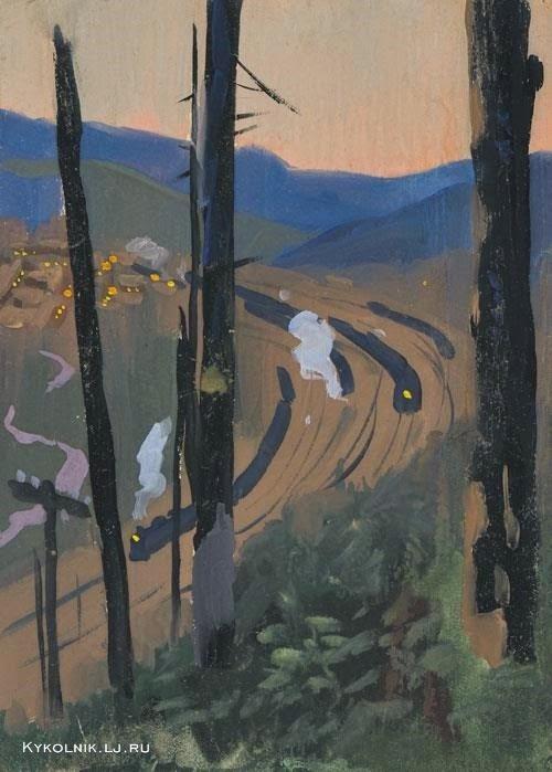 Виктор Ефимович Попков. Поезд