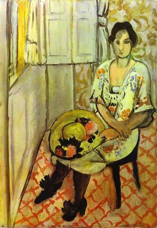 Анри Матисс. Женщина, сидящая на стуле