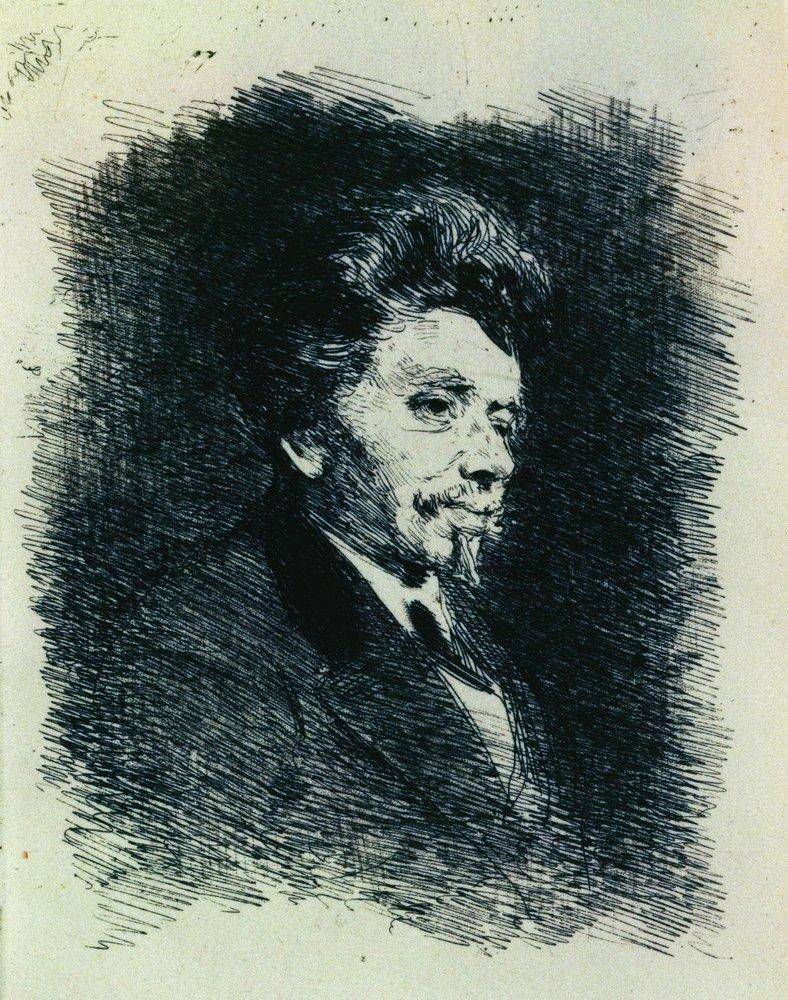 Ilya Efimovich Repin. Portrait Of P. Schindler