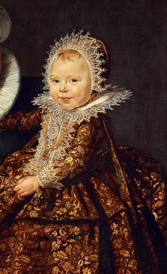 """Frans Hals. Katharina Hoft. Fragment of the painting """"The Nurse with the Child"""""""