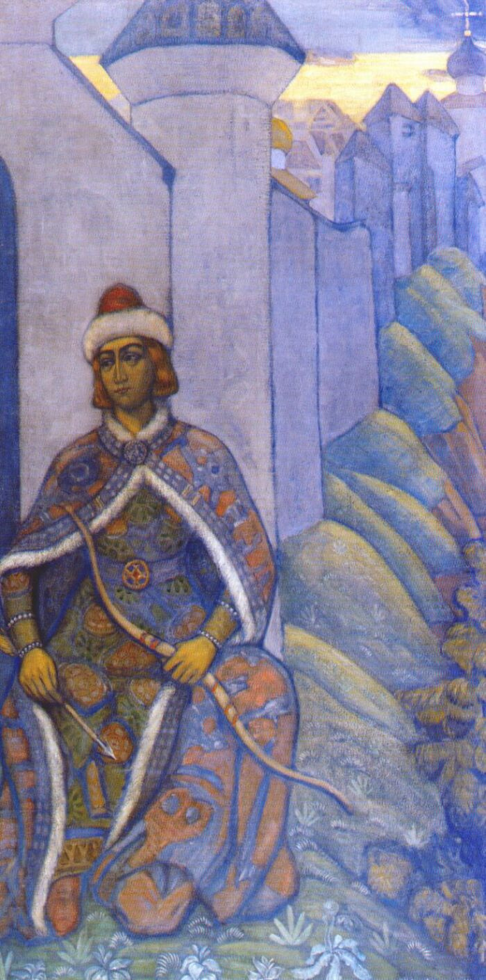 Nicholas Roerich. Knight (decorative panels)
