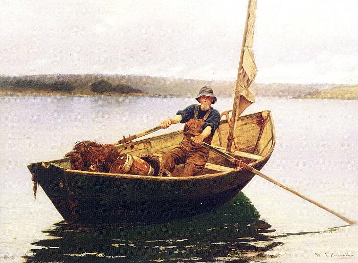 Уильям Лам Пикнелл. В лодке