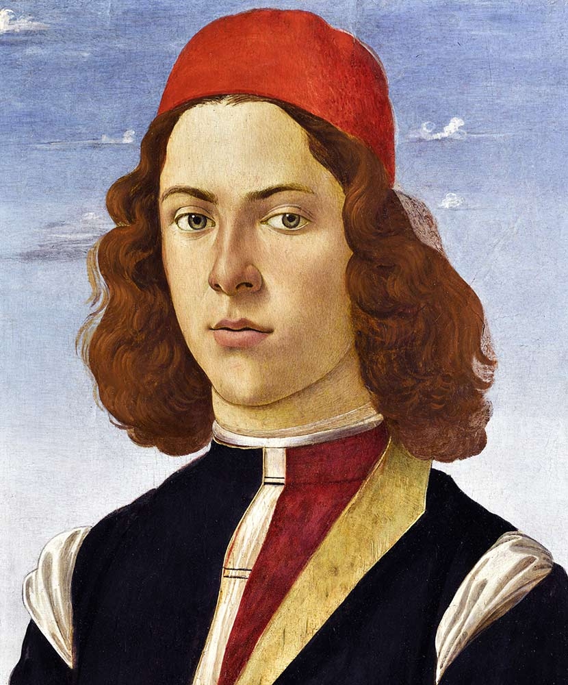 Domenico Girlandajo. Portrait of a young man