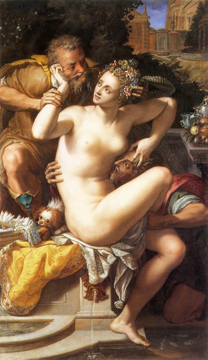 Alessandro Allori. Susanna and the elders