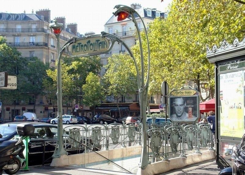 Hector Guimard. Entrance to the Victor Hugo metro, Paris