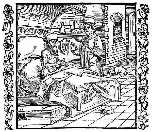 Альбрехт Дюрер. Умирающий Катон наставляет своего сына Катона Младшего