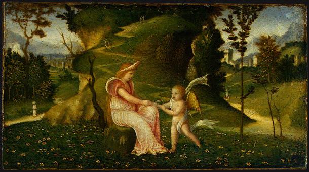 Джорджоне. Венера и Амур