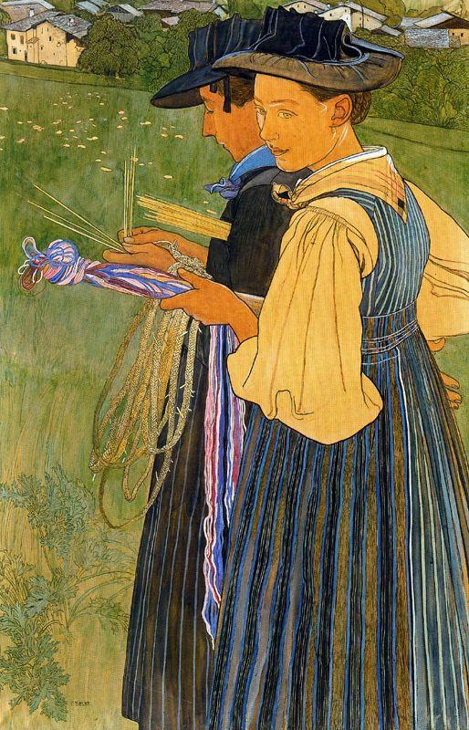 Две леди.  Ernest Biéler
