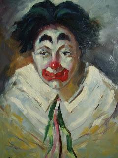 Unknown artist. Sad clown.