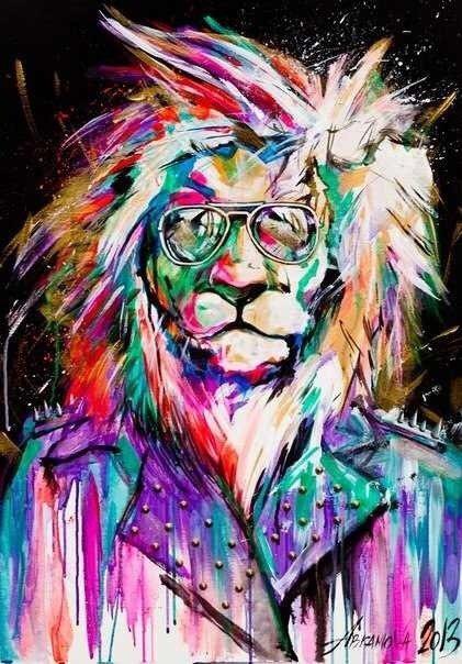 Eugene Abramova. Lion