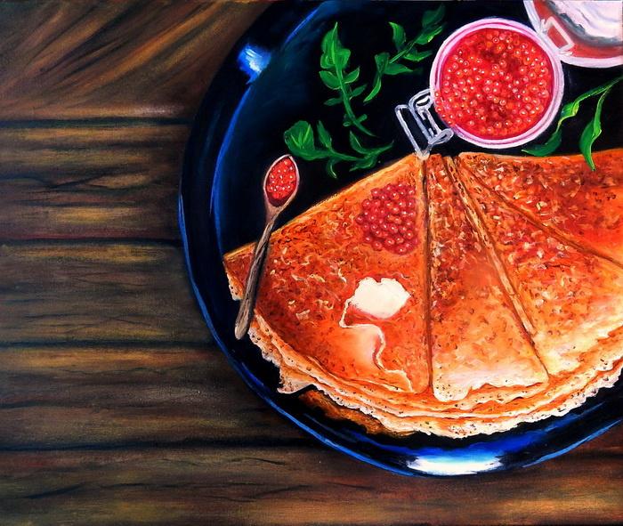 Irel Shulzhenko. Pancakes with caviar