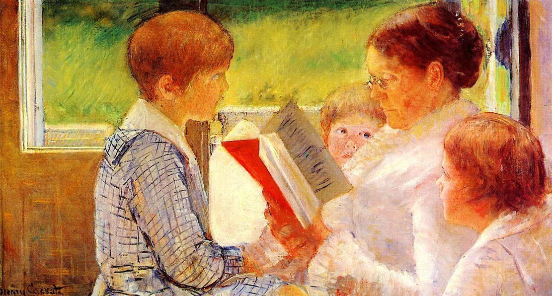 Мэри Кассат. Миссис Кессет, читающая внукам